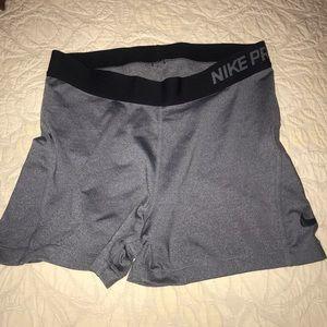 Nike pro gray spandex
